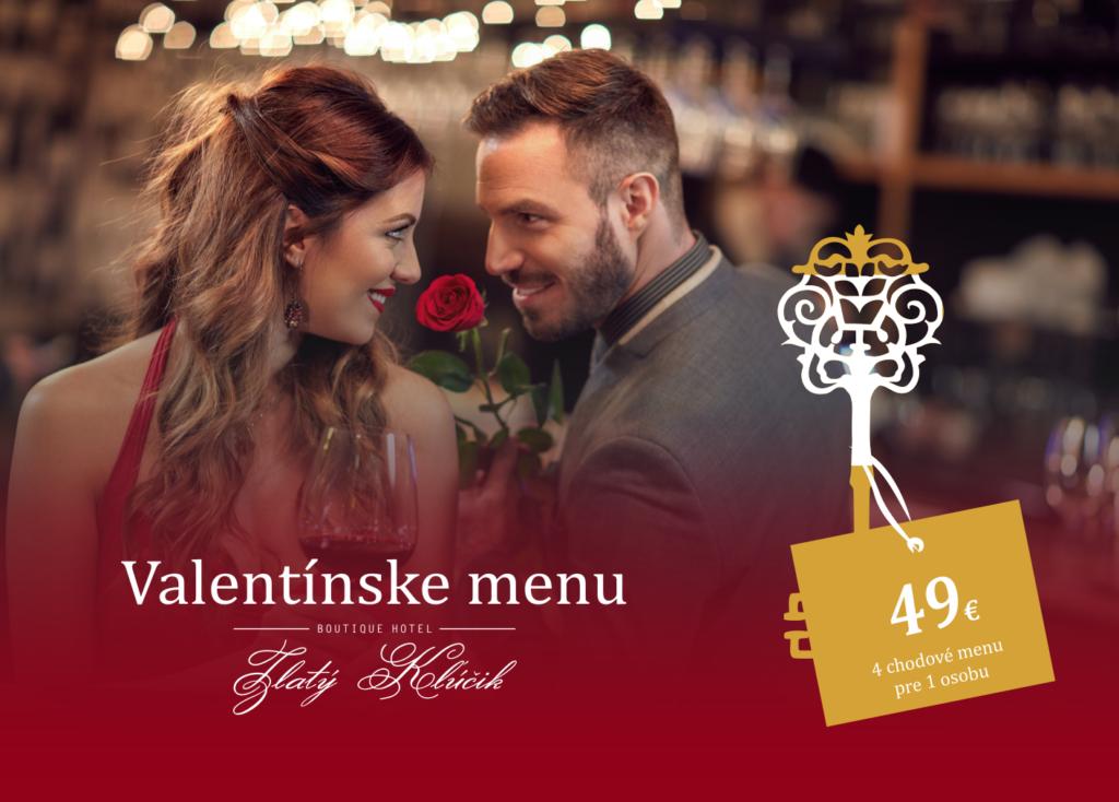 valentinske menu Hotel Zlaty Klucik